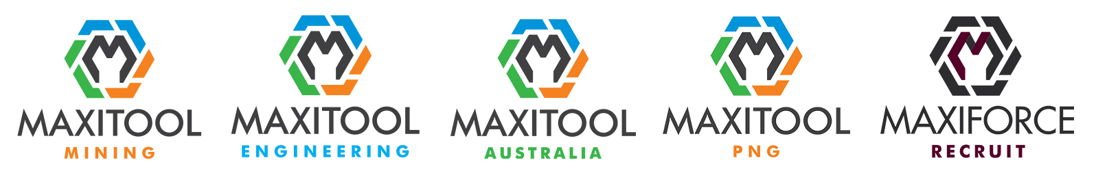 Maxitool Group - Group of 5 Logos Rev4